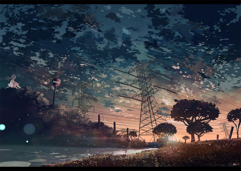 Dark Anime Scenery Wallpapers Top Free Dark Anime Scenery Backgrounds Wallpaperaccess