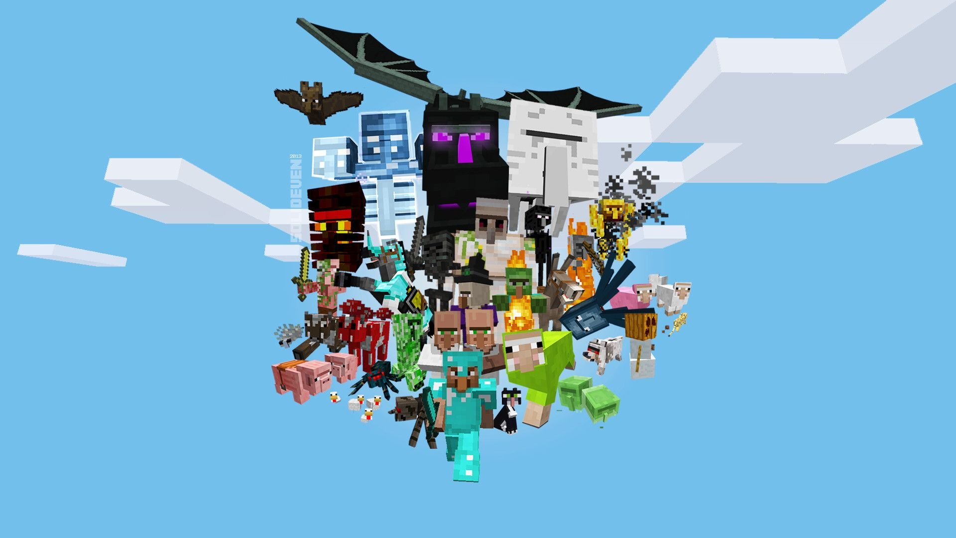 1920x1080 Minecraft Wallpaper Mobs HD Wallpaper, Background Images