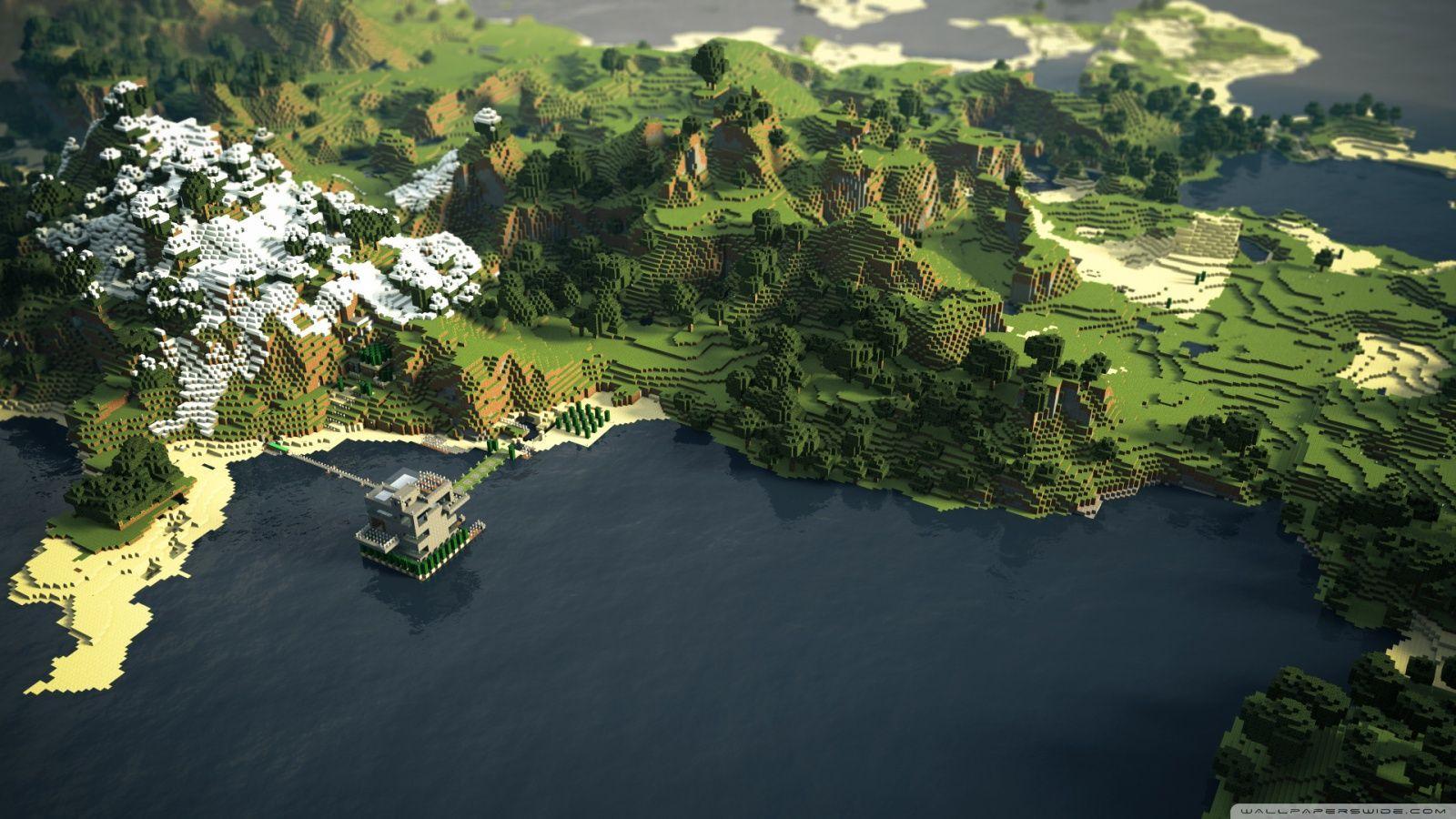 1600x900 Minecraft Landscape ❤ 4K HD Desktop Wallpaper for 4K Ultra HD TV ...