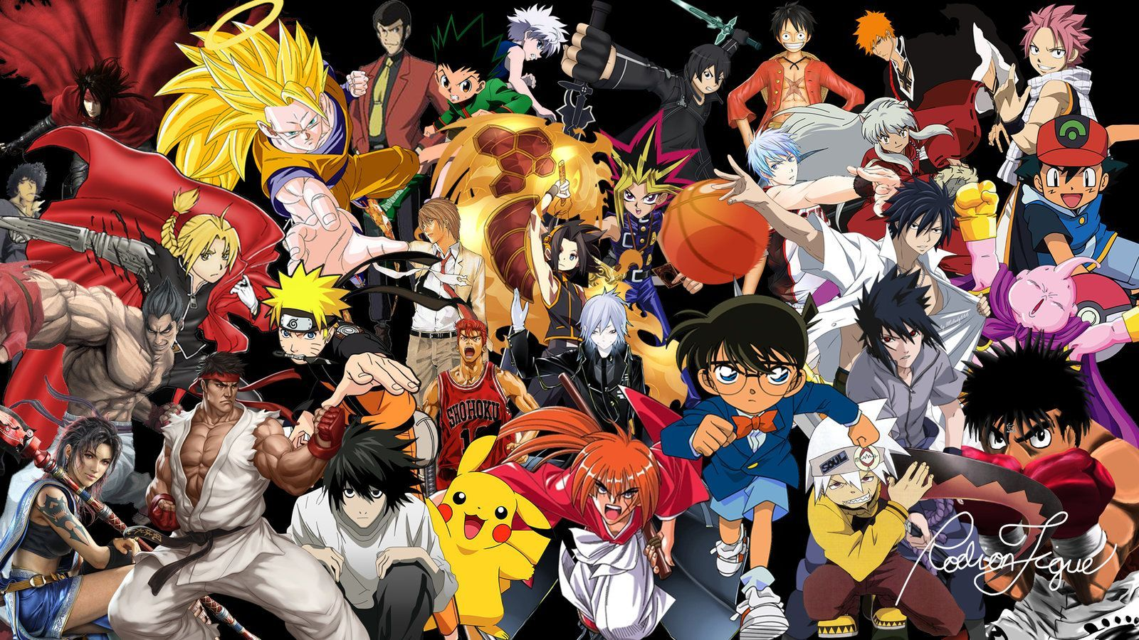 Anime Collage Wallpapers Top Free Anime Collage Backgrounds