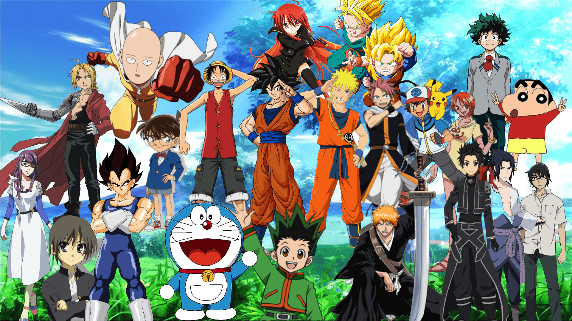 Anime Collage Wallpapers - Top Free Anime Collage ...