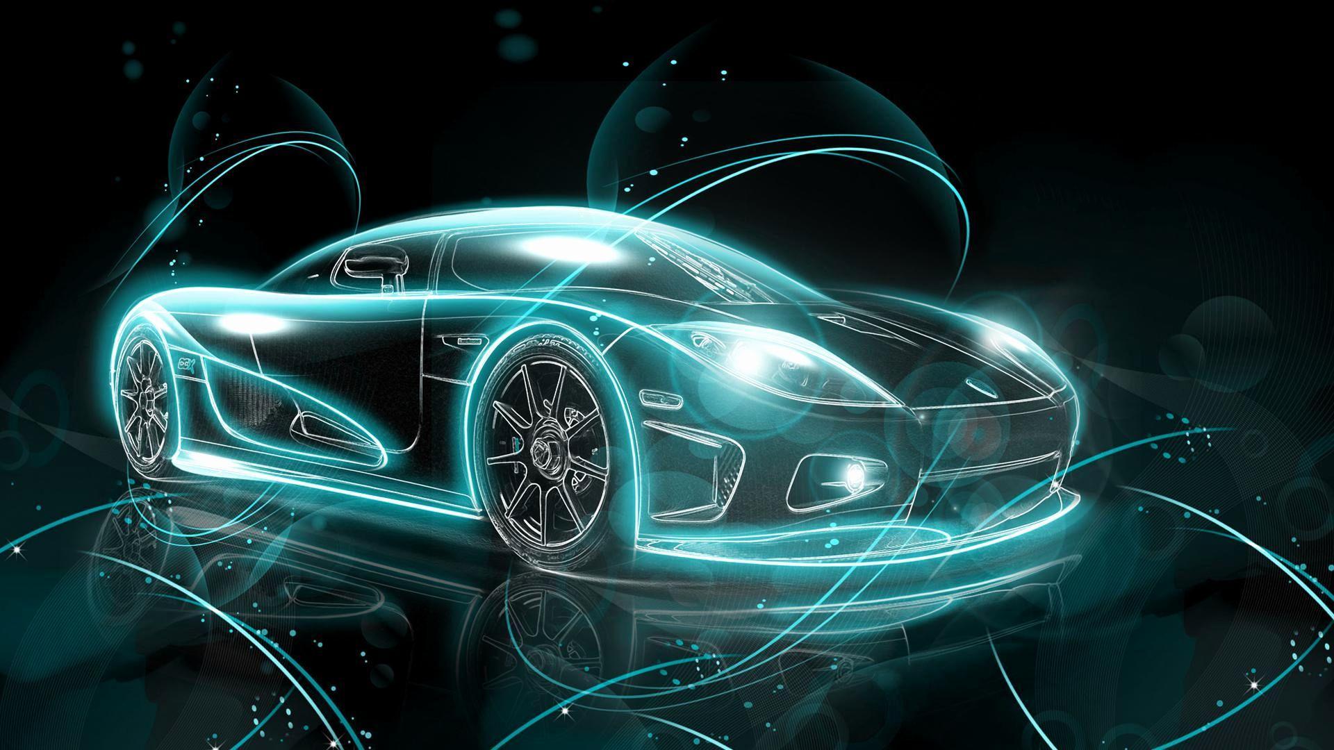 Wallpaper Cool Epic Cool Car Neon Light Lamborghini ...