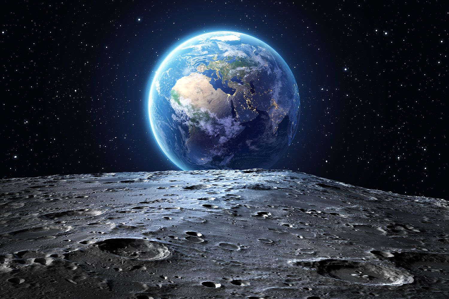 Earth And Moon Wallpapers Top Free Earth And Moon