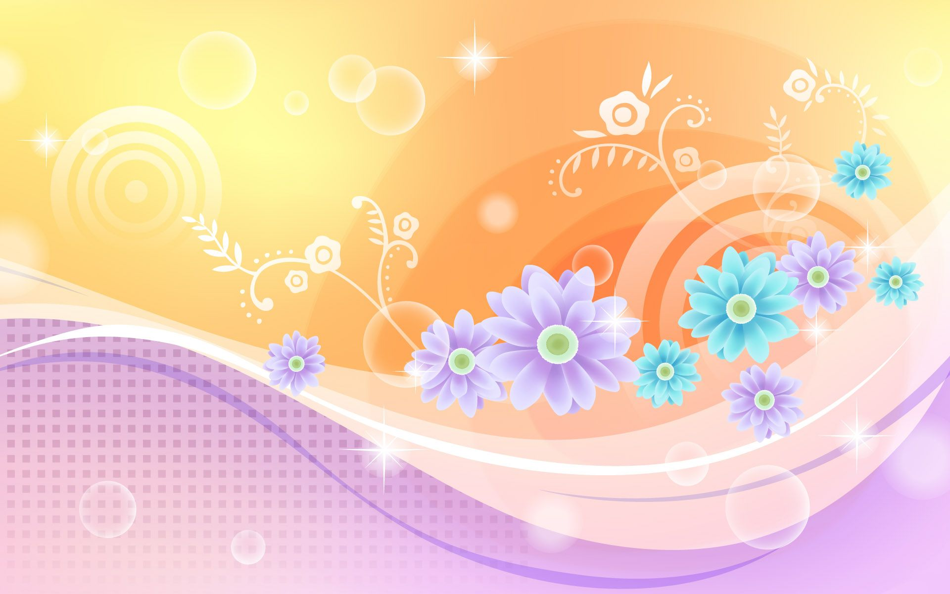 Colorful Abstract Floral Wallpapers Top Free Colorful