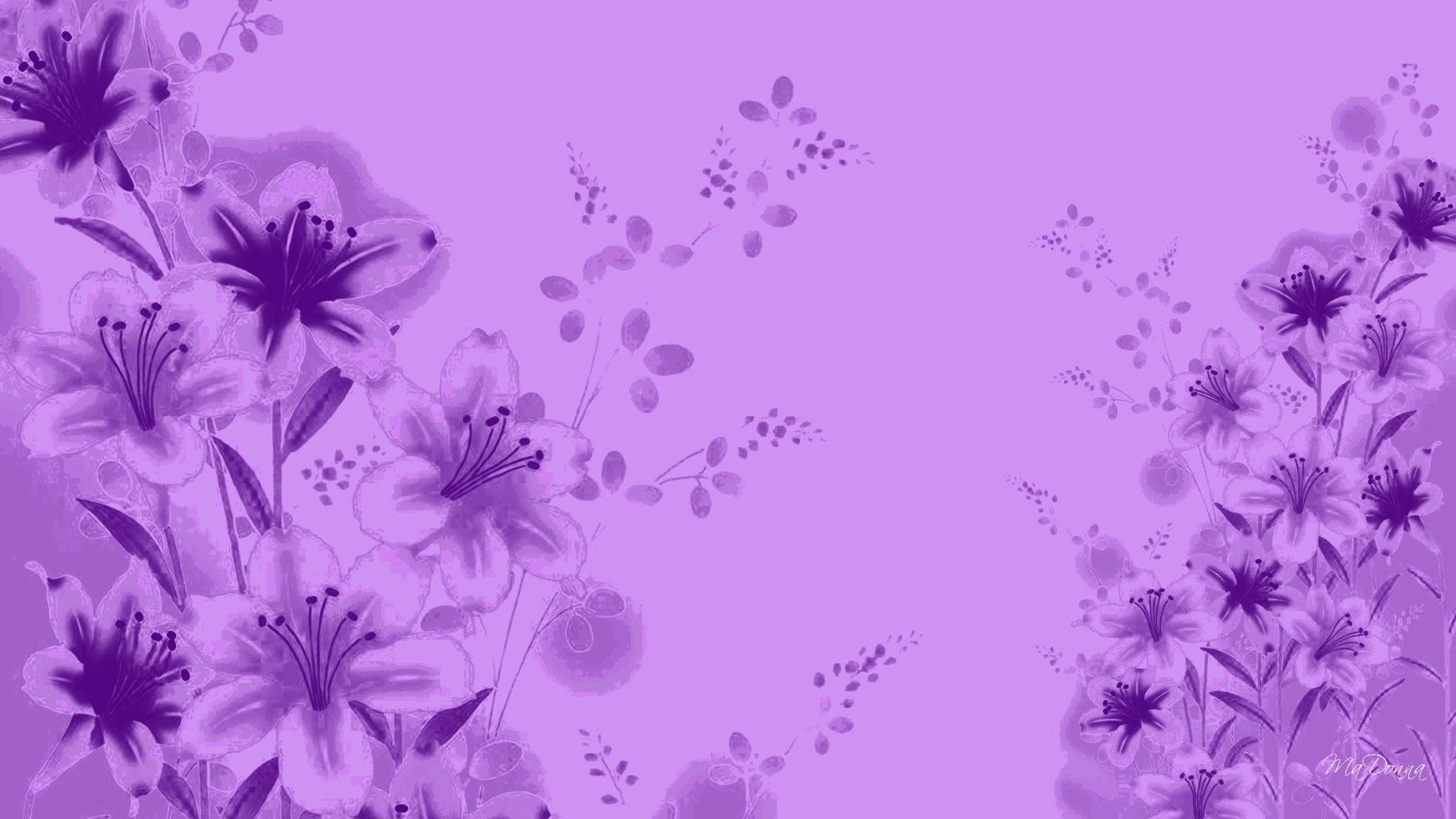 B92142 Purple Flower Abstract Wallpaper Wiring Library