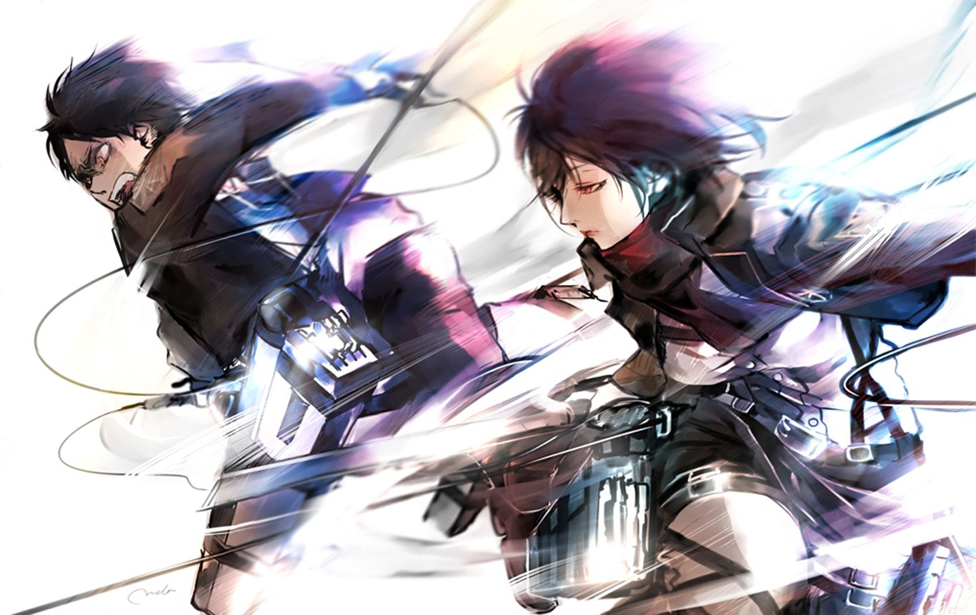 Attack On Titan Eren And Mikasa Wallpapers Top Free Attack On