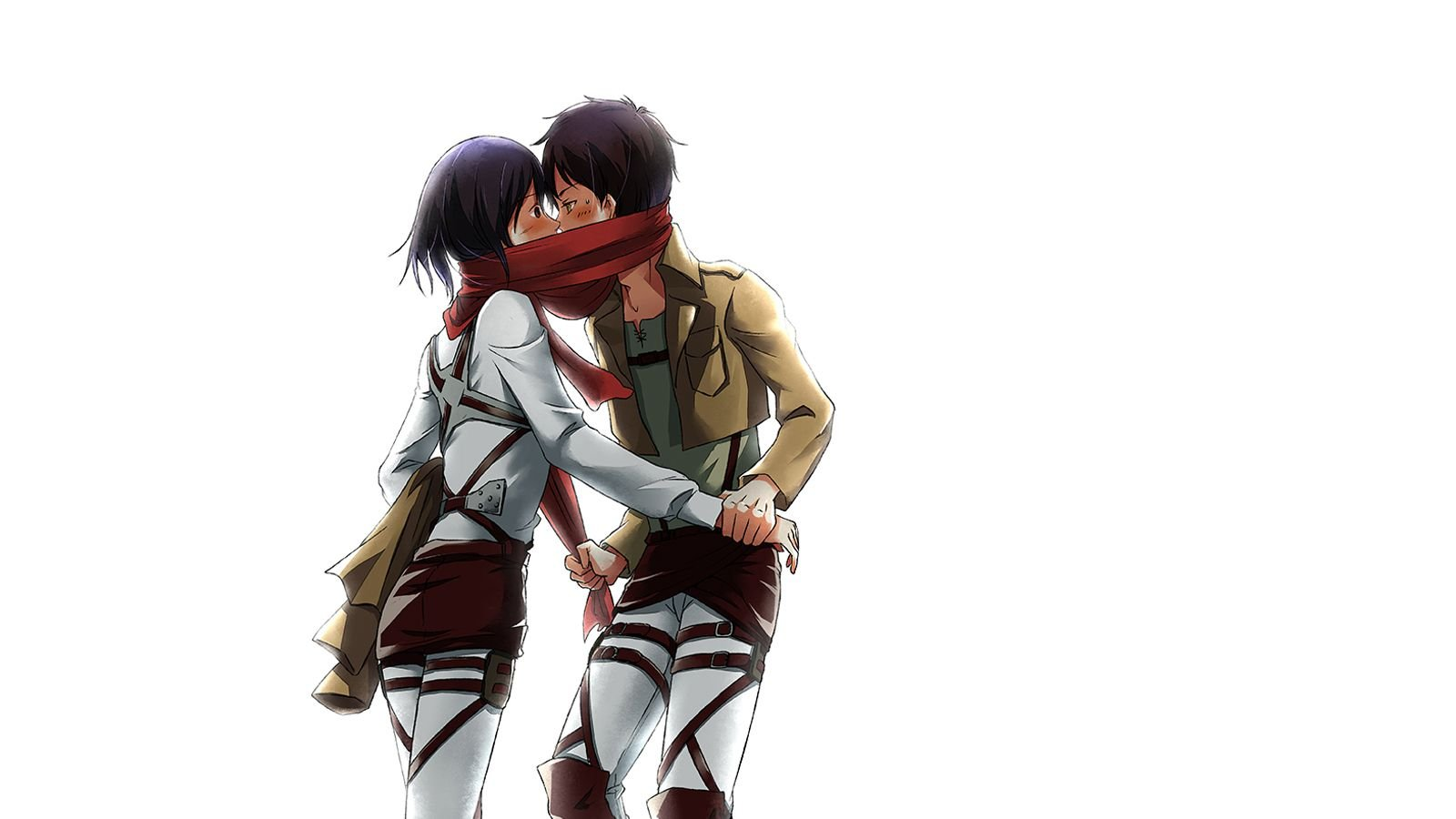 Attack On Titan Eren And Mikasa Wallpapers Top Free Attack On Titan Eren And Mikasa Backgrounds Wallpaperaccess