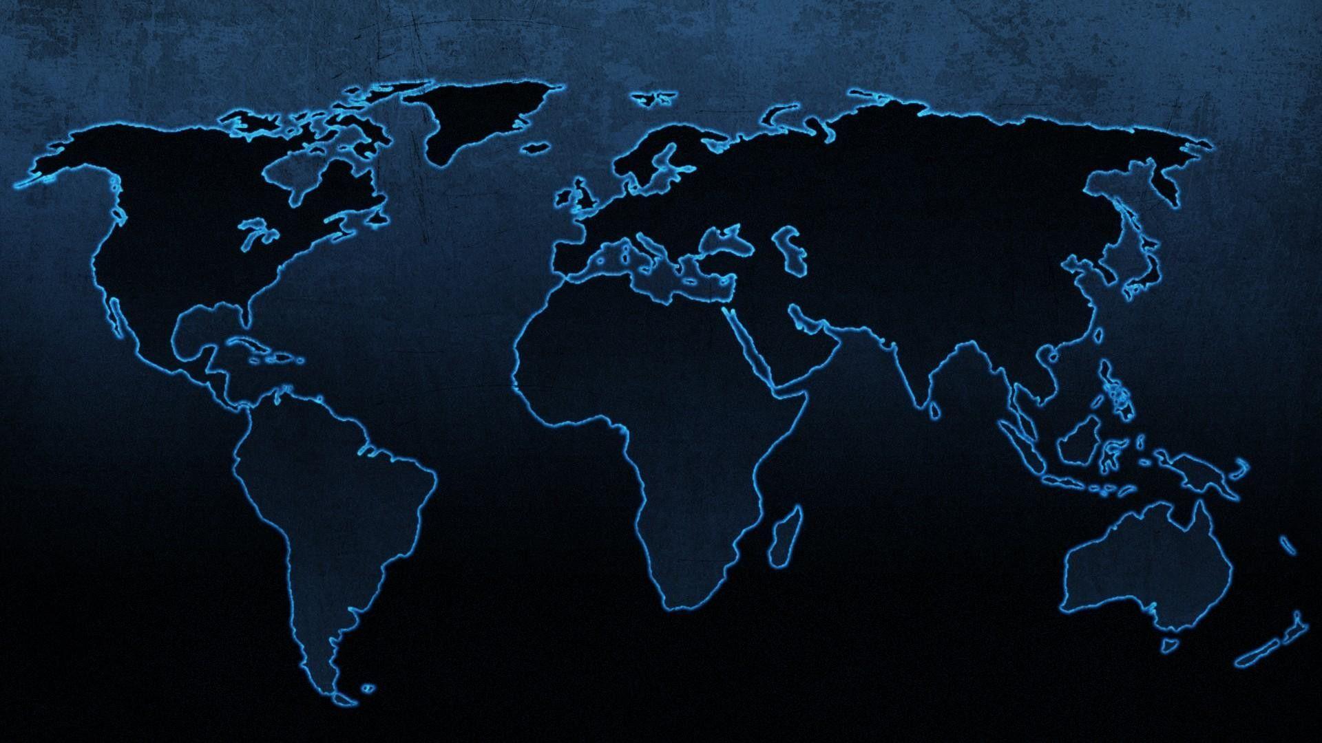 1920x1080 World Map Desktop Wallpaper HD