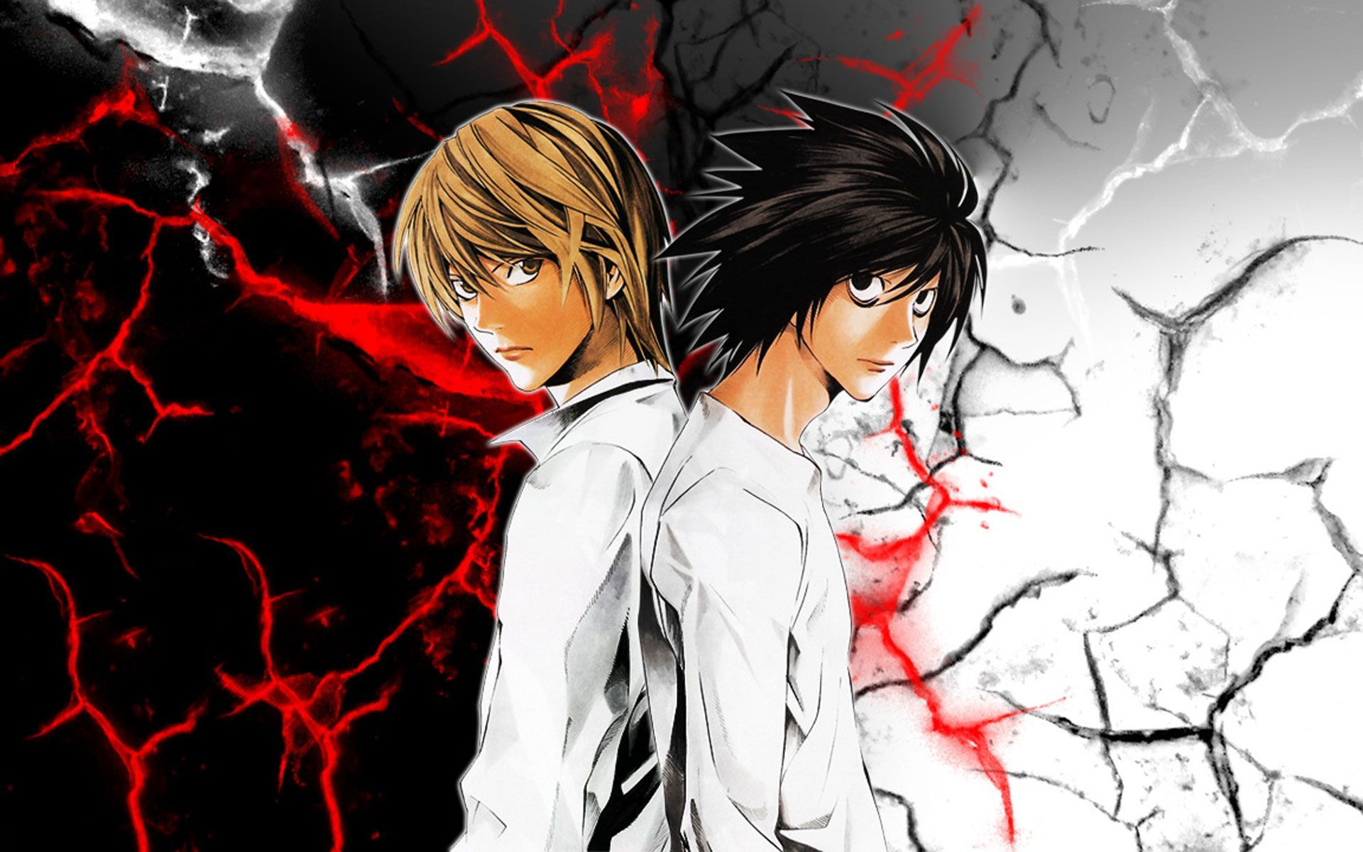 Light And L Death Note Wallpapers Top Free Light And L