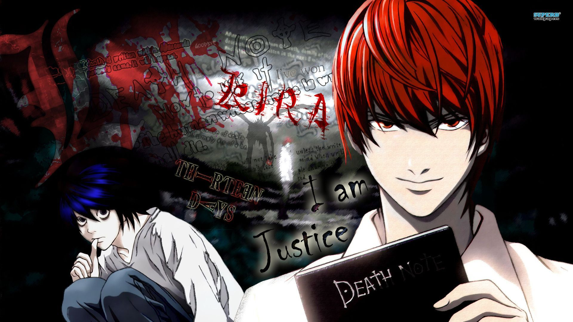 Light And L Death Note Wallpapers Top Free Light And L Death