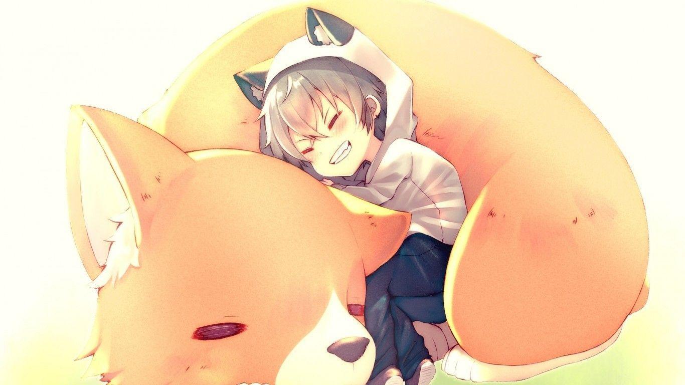 1366x768 Tải xuống 1366x768 Cậu bé anime dễ thương, Oogami Kouga, Shoujo, Cáo, Ngôi sao hòa tấu, Chibi, Tai động vật, Hình nền tươi cười cho máy tính xách tay, Máy tính xách tay - WallpaperMaiden