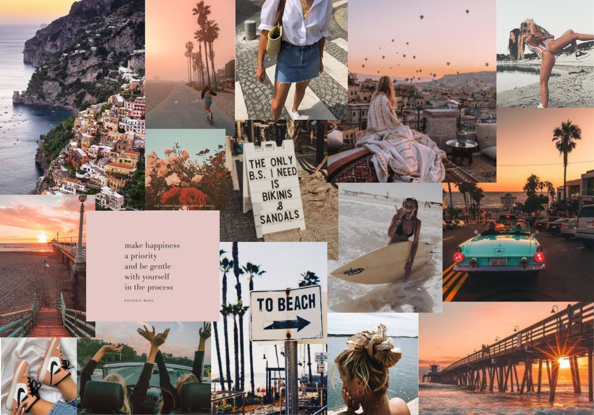 Collage Aesthetic Summer Laptop Wallpapers Top Free Collage Aesthetic Summer Laptop Backgrounds Wallpaperaccess