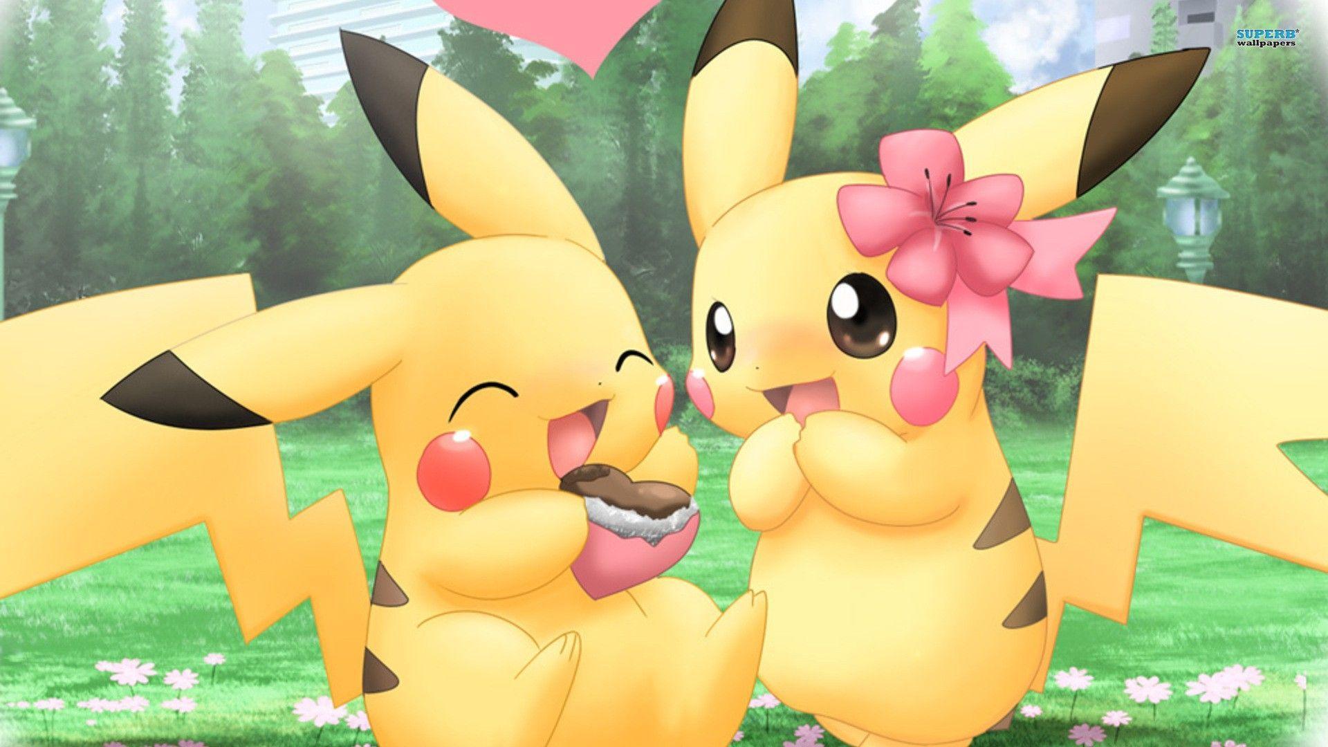 1920x1080 Pikachu Hoạt hình Dễ thương Hình nền 1080p
