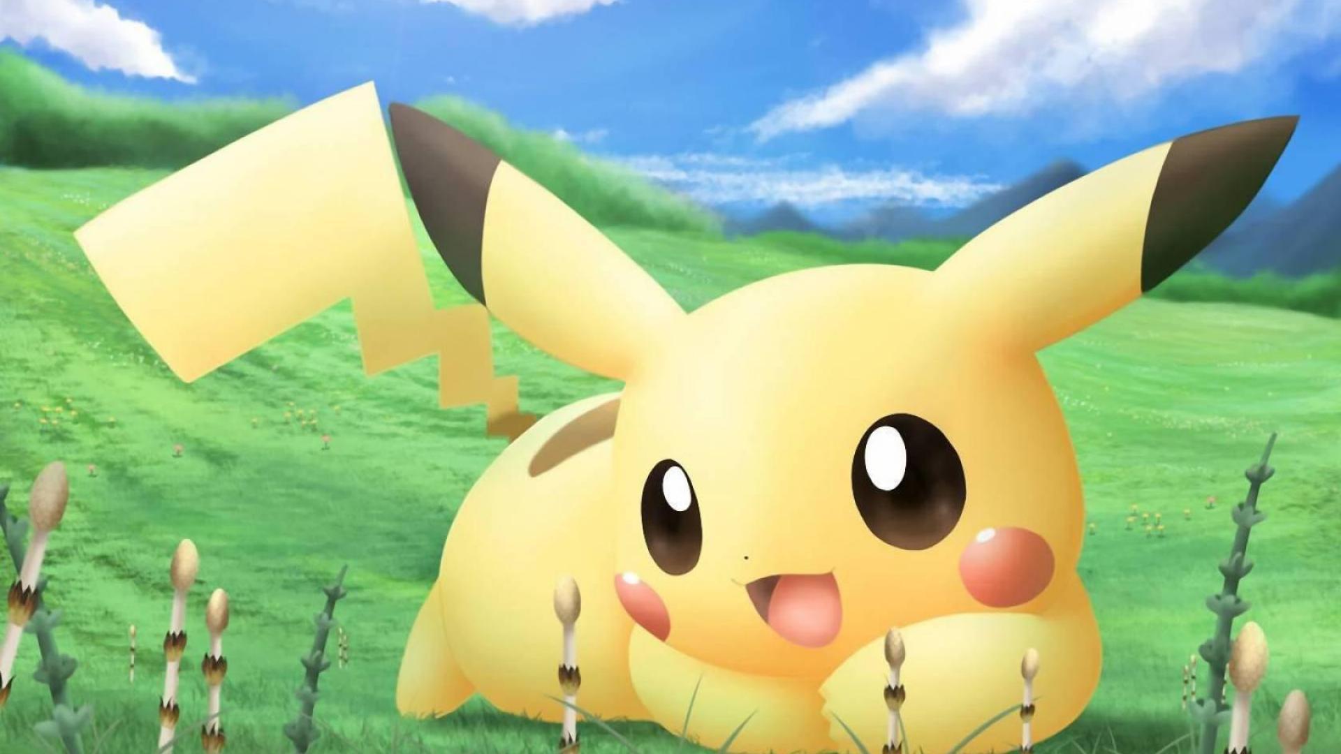 1920x1080 Hình nền Pikachu dễ thương HD