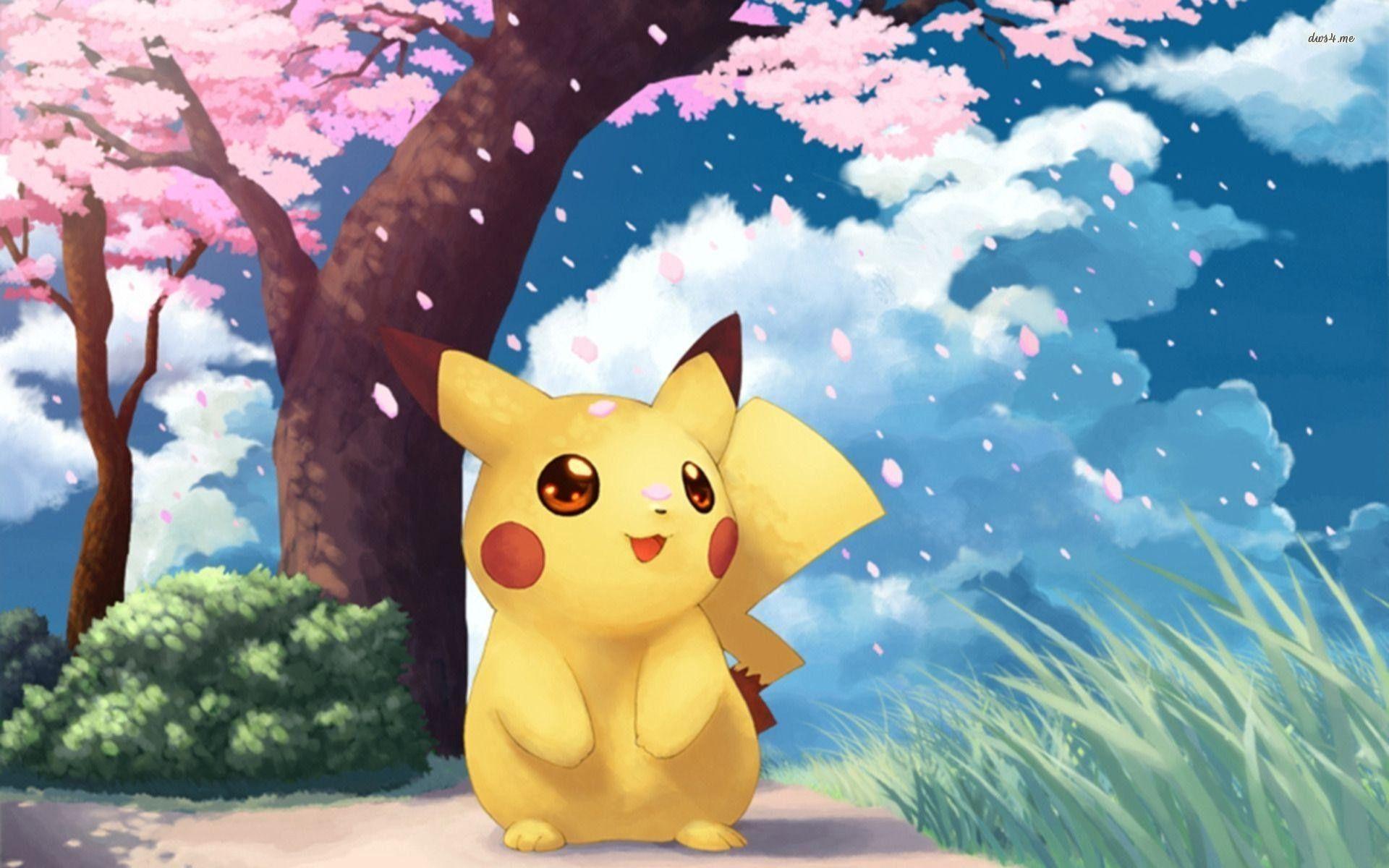 Hình nền Pikachu dễ thương 1920x1200