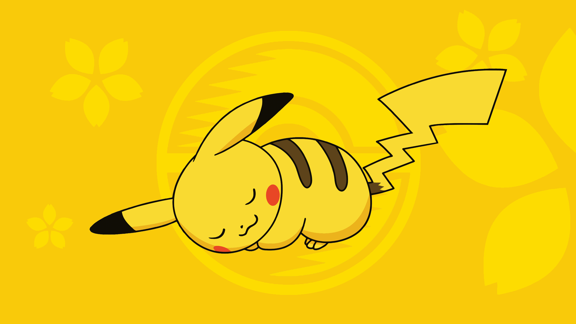 1920x1080 Ngủ Pikachu Pokemon Hình nền