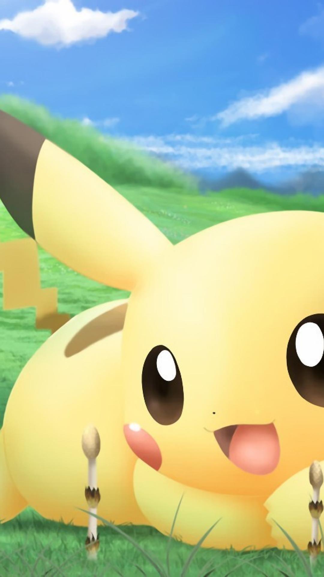 Hình nền iphone 6 plus 1080x1920 Pikachu nữ tính dễ thương.  - Phương tiện truyền thông