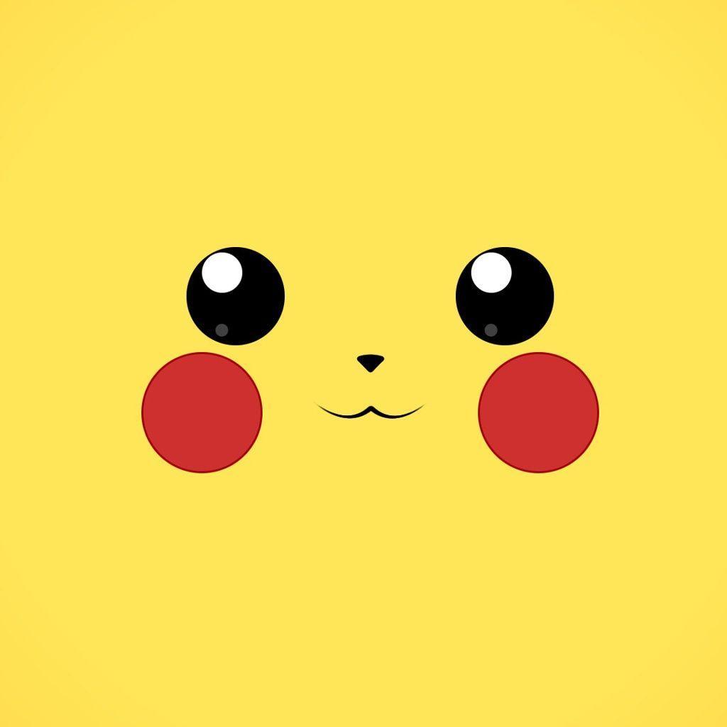 1024x1024 Hình nền Pikachu dễ thương