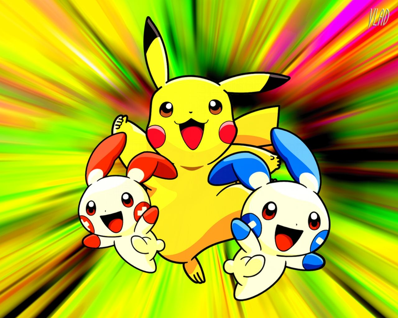 1280x1024 Pikachu hình nền Dễ thương