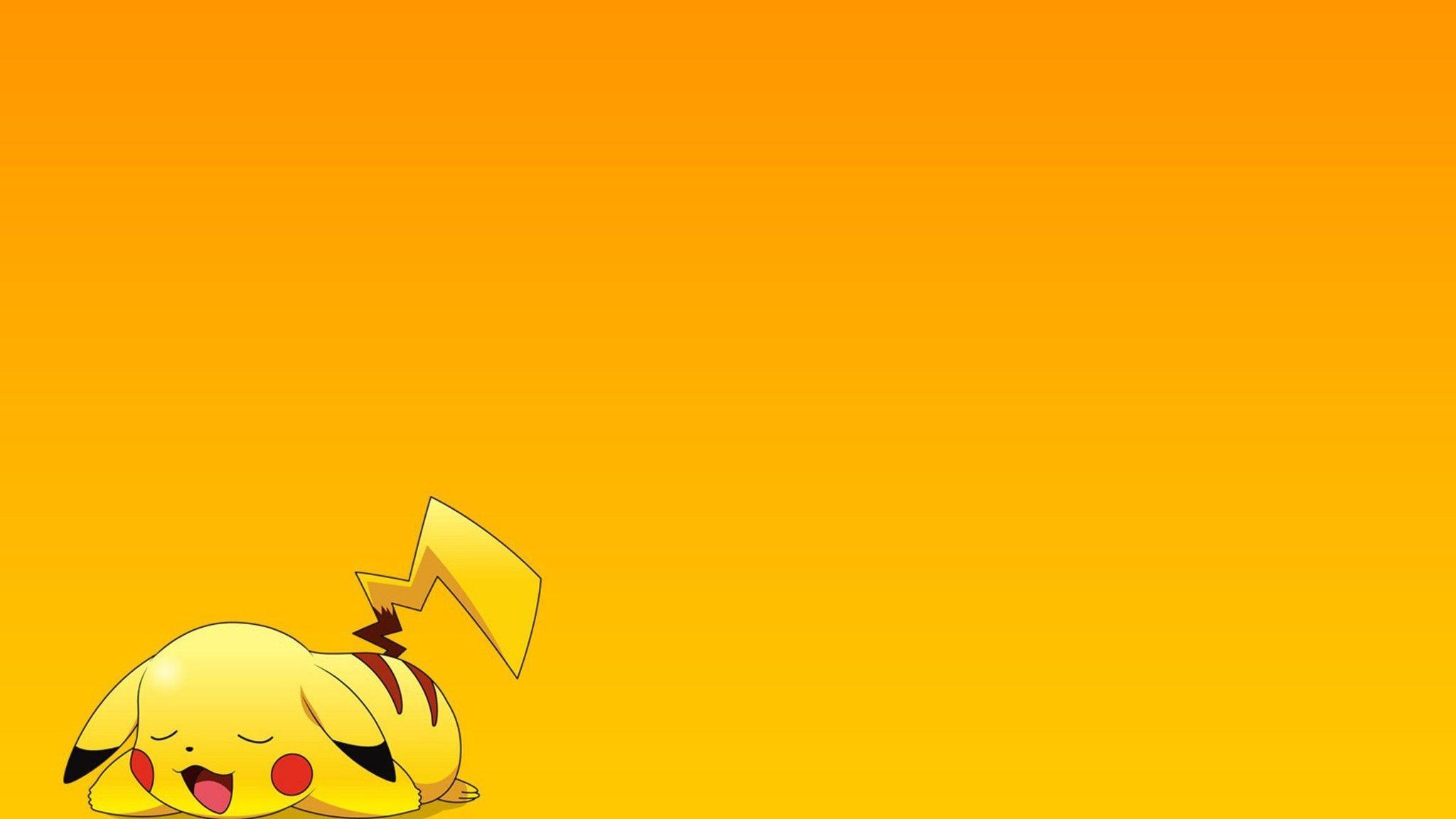 Hình nền Pikachu 2048x1152.  máy tính