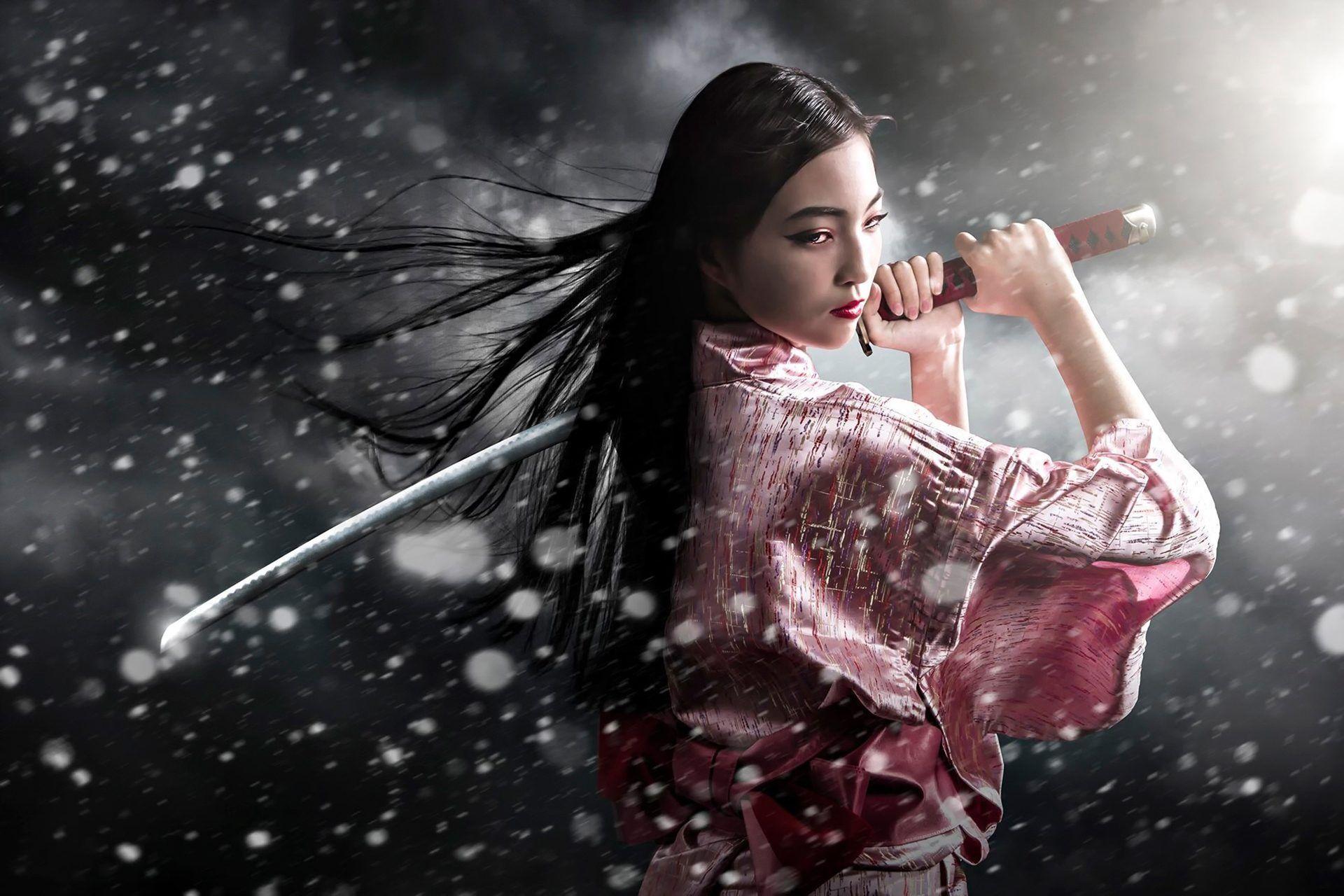 Samurai Girl Desktop Wallpapers