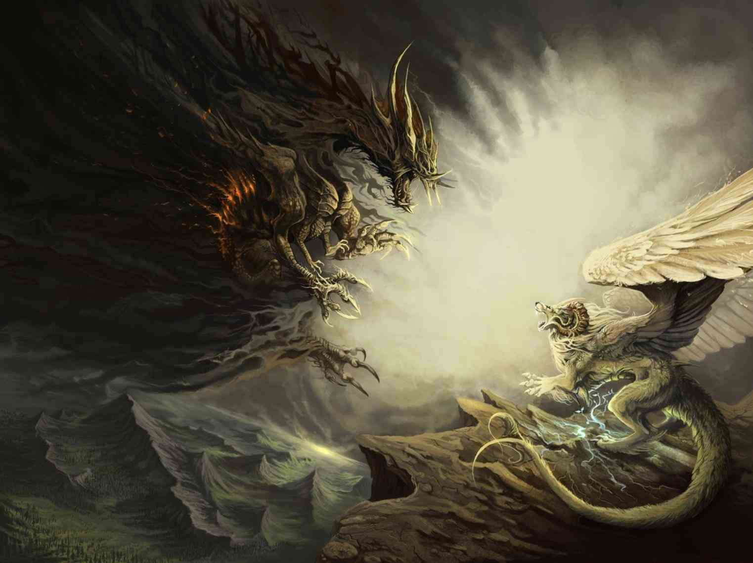 Light Dragon Wallpapers Top Free Light Dragon Backgrounds