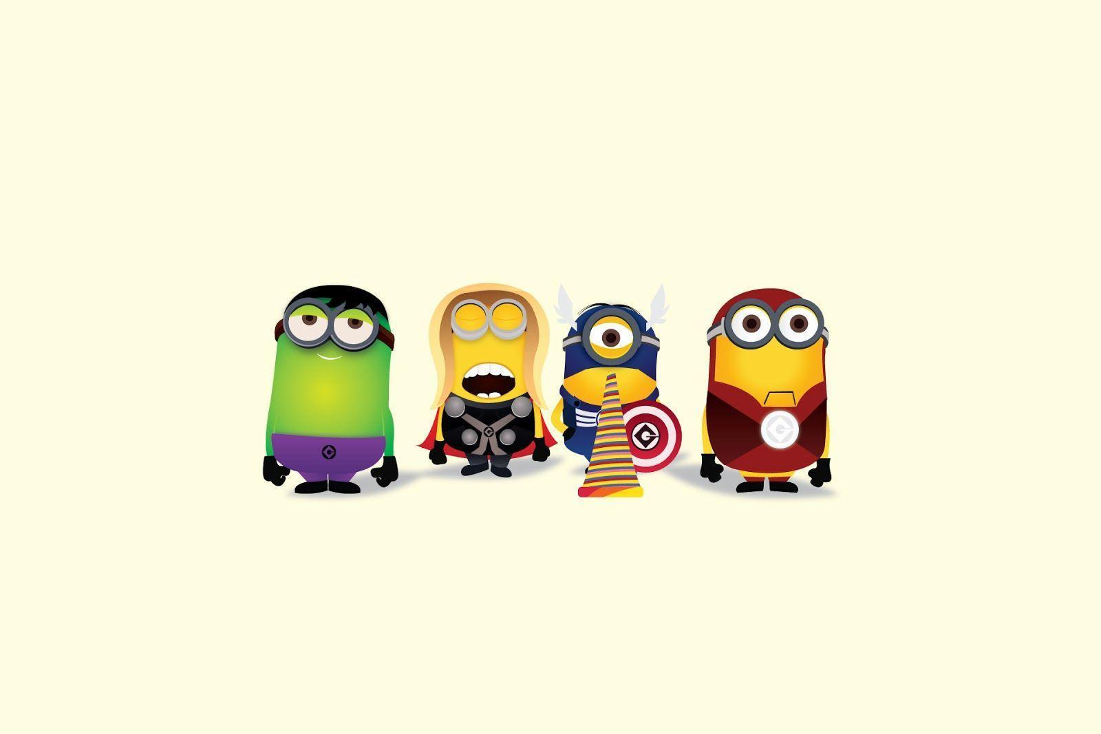 Minion Avengers Wallpapers Top Free Minion Avengers Backgrounds Wallpaperaccess