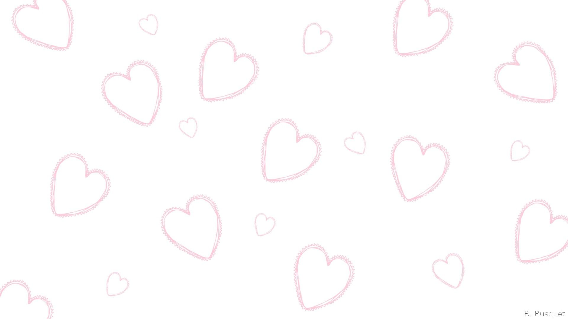 1600x1200 Download Cute Pink Hearts Background Love Wallpaper HD 24178393