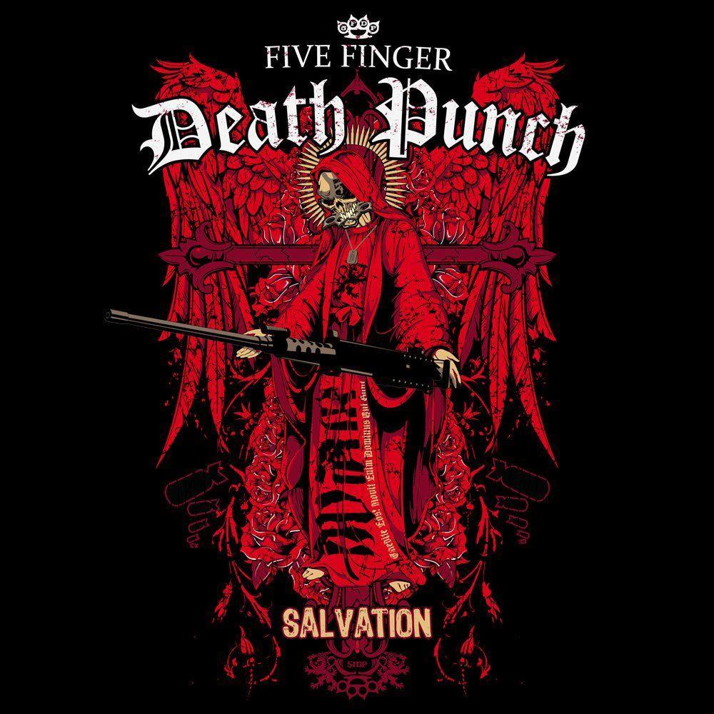 Five Finger Death Punch Skull Logo Wallpaper