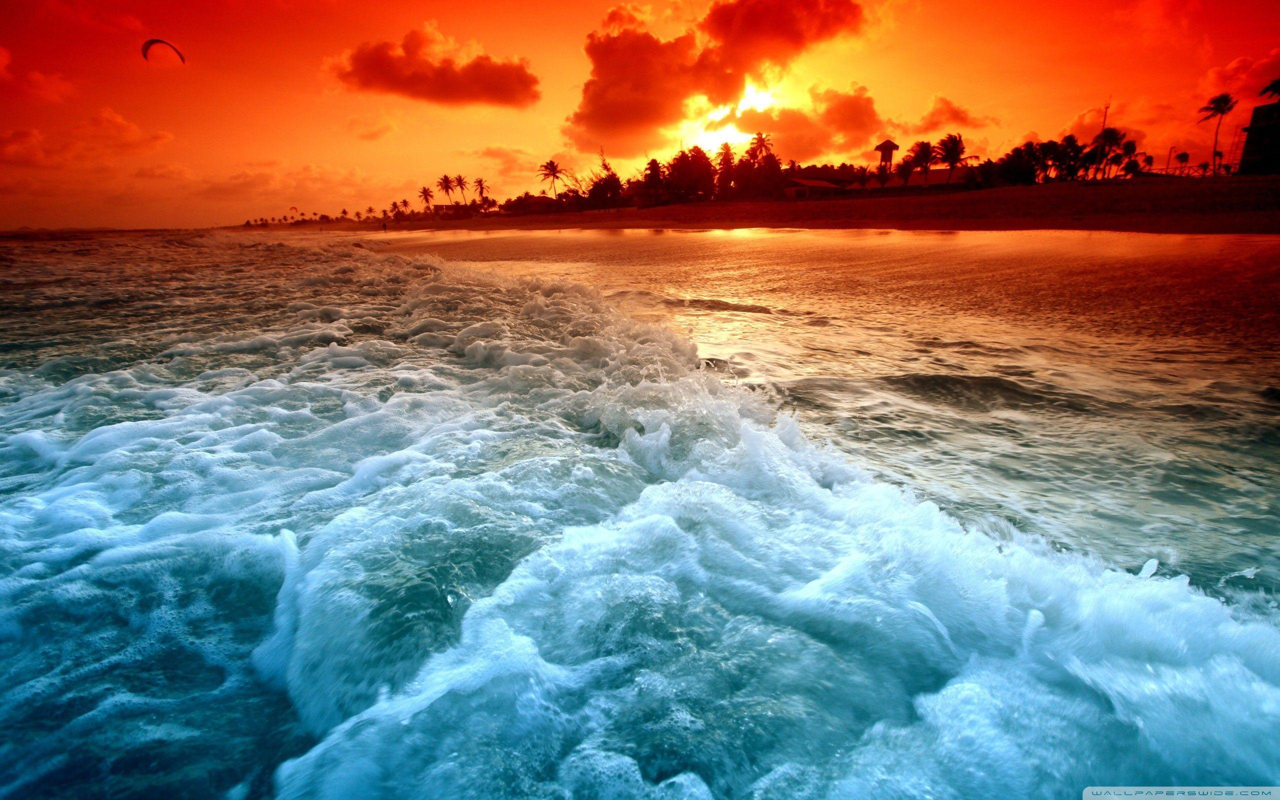 Beach Sunset Wallpapers Top Free Beach Sunset Backgrounds Wallpaperaccess
