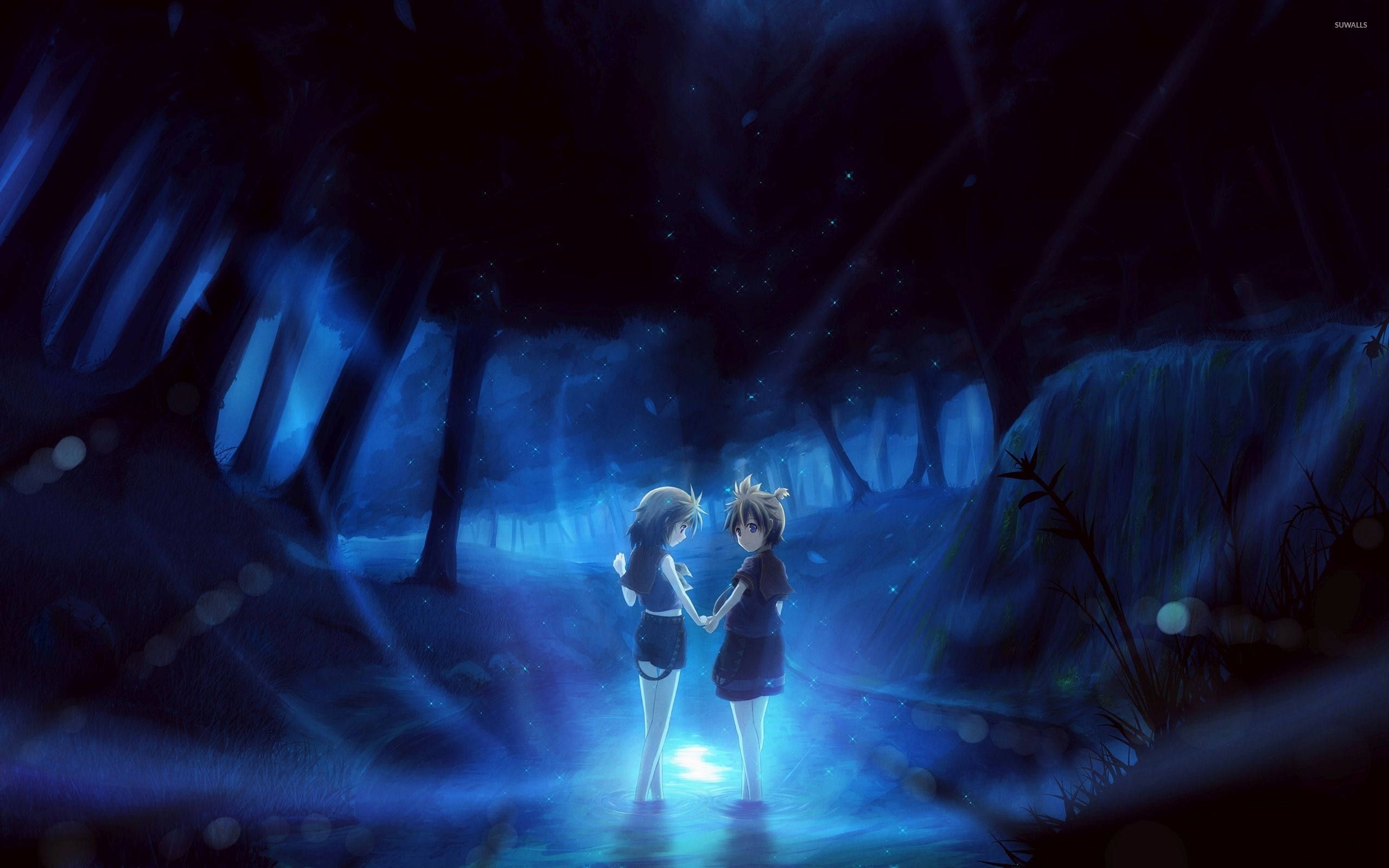 42 best free anime dark forest wallpapers wallpaperaccess