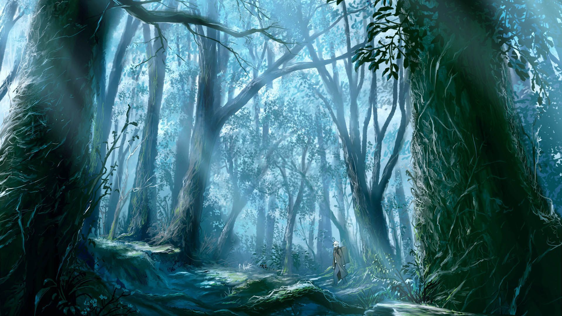 Anime dark forest wallpapers top free anime dark forest - Dark anime background ...