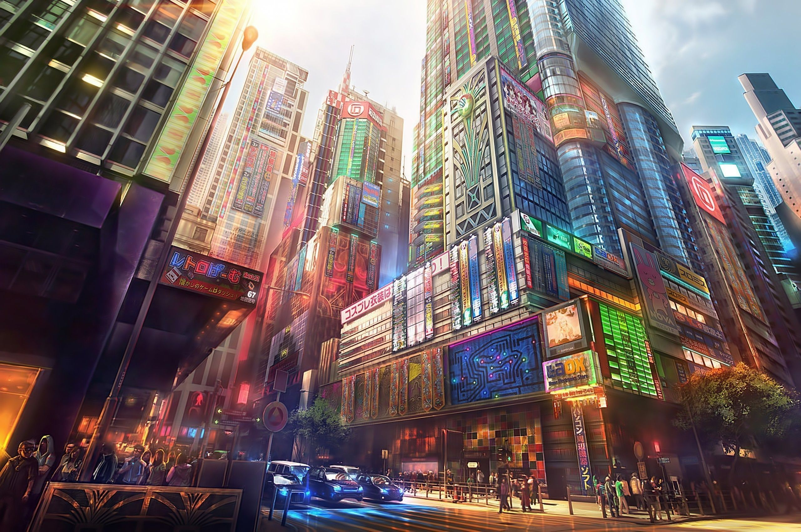 Japanese Anime City Wallpapers Top Free Japanese Anime City Backgrounds Wallpaperaccess