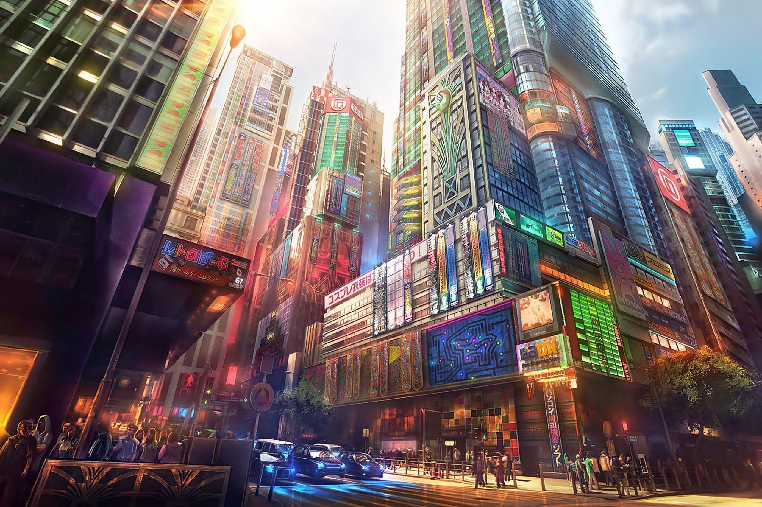 13++ Anime Cityscape Wallpaper 4k - Anime Top Wallpaper
