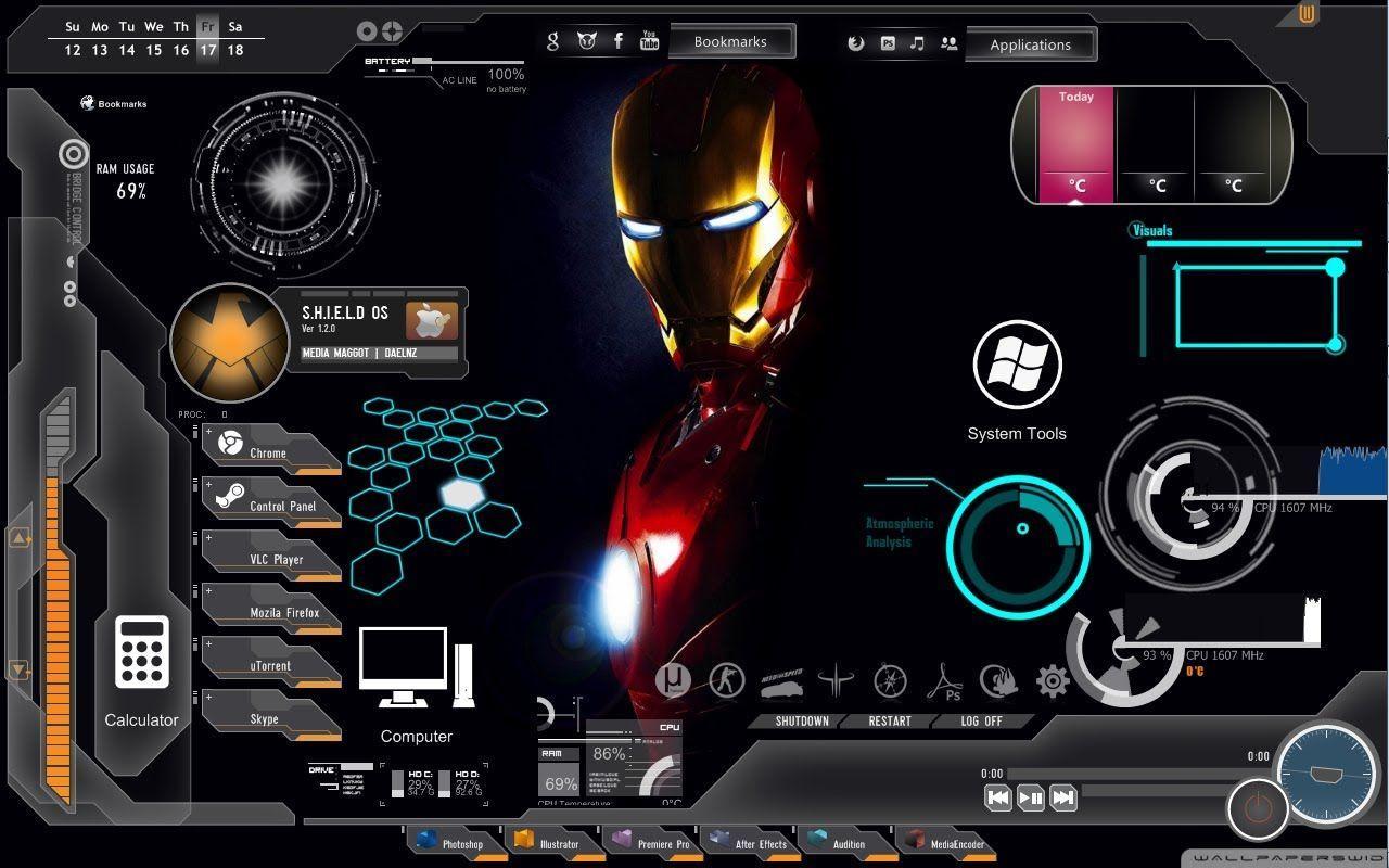 Iron Man Jarvis Desktop Wallpapers Top Free Iron Man Jarvis