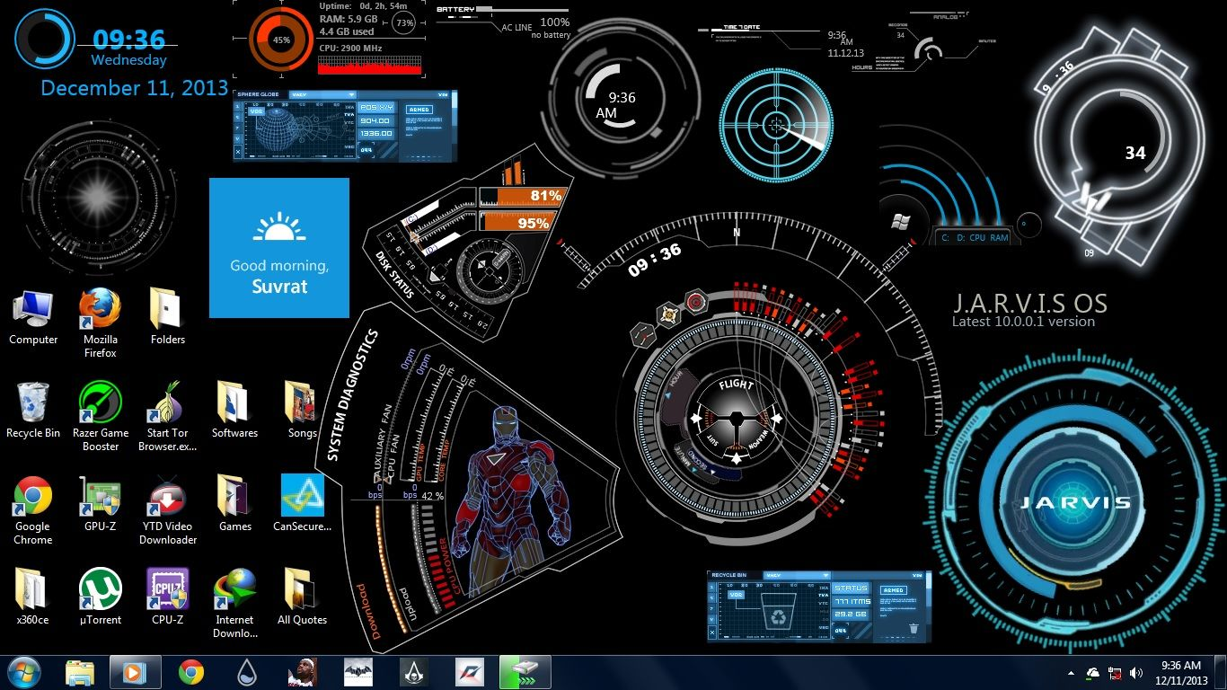 Iron Man Jarvis Desktop Wallpapers - Top Free Iron Man