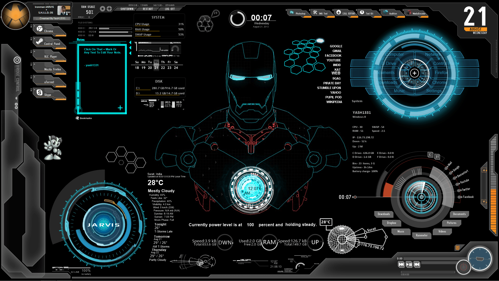 Iron Man Jarvis Desktop Wallpapers - Top Free Iron Man