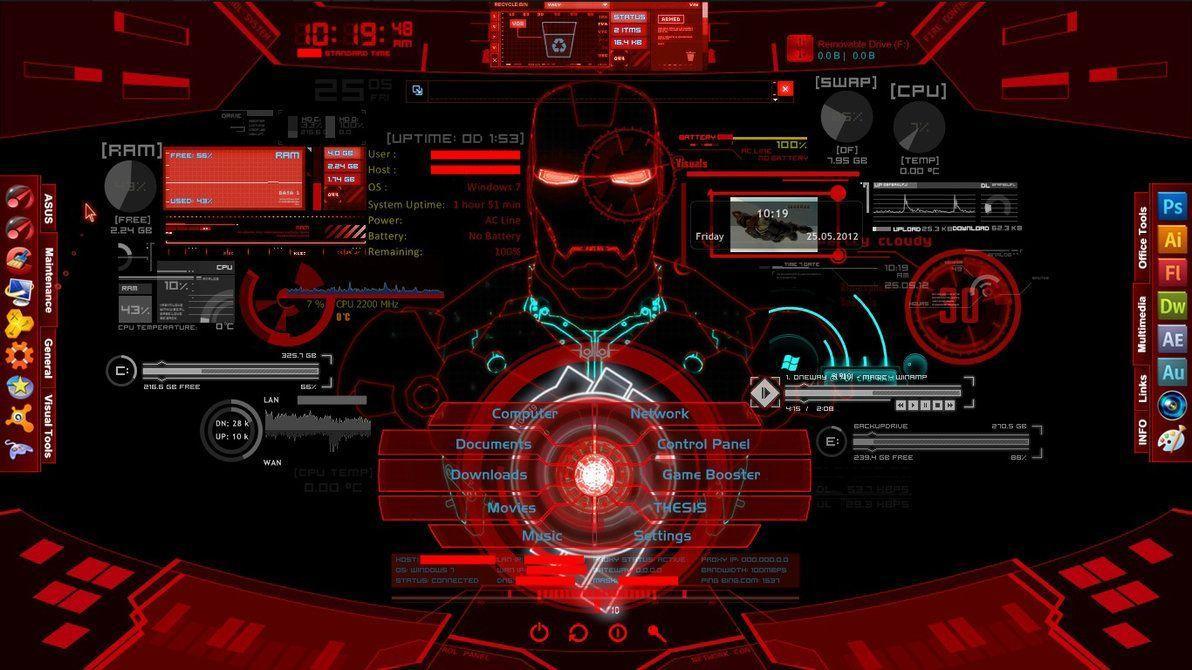 Iron Man Jarvis Desktop Wallpapers - Top Free Iron Man Jarvis
