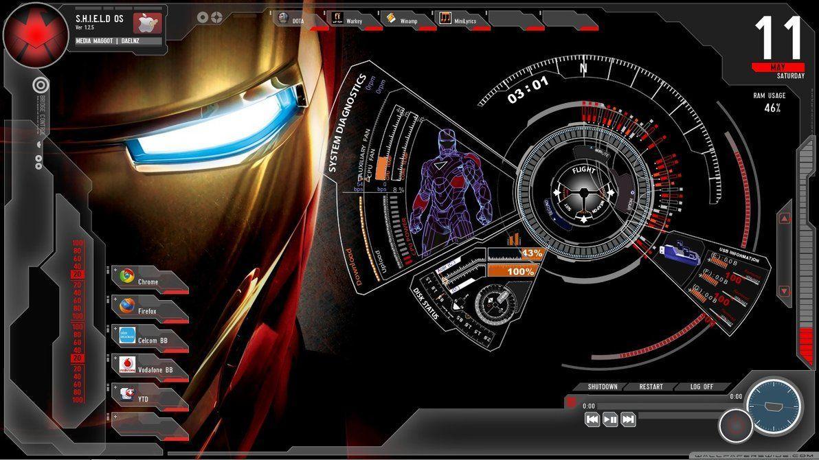 Iron man jarvis desktop wallpapers top free iron man jarvis desktop backgrounds wallpaperaccess - Iron man jarvis background ...