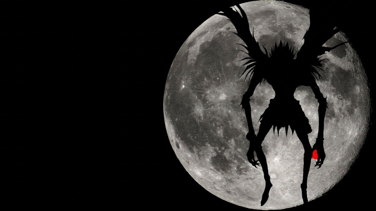 1600x900 Death Note Shinigami Ryuk Shadow Full Moon Hình nền.  Anime x