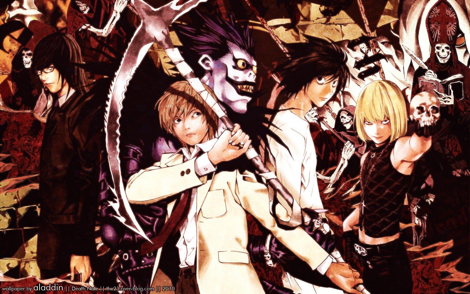 1920x1200 Death Note, Yagami Light, L., Kira, Lawliet, Raito - Hình nền miễn phí