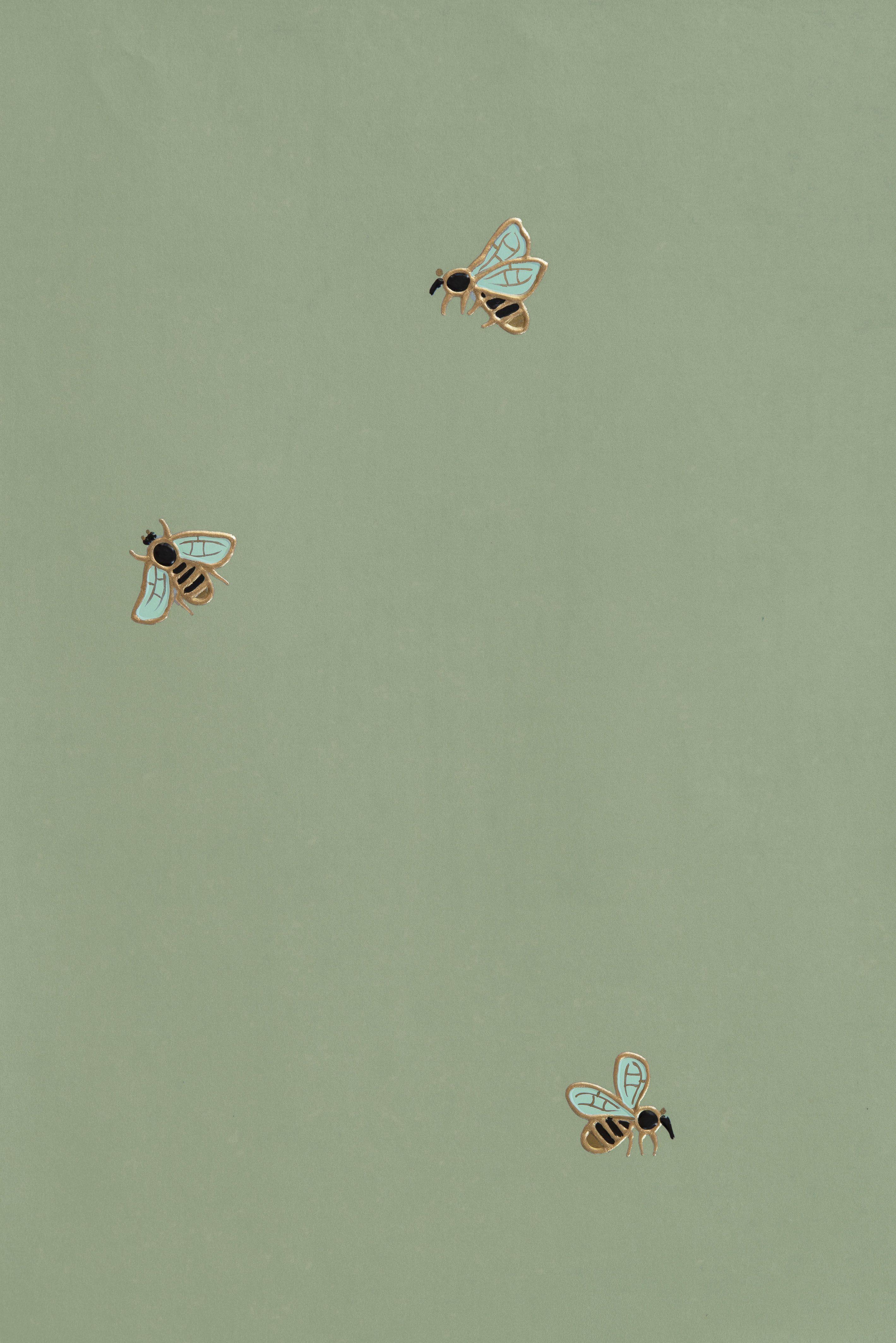 2838x4252 The Bees - Fromental.  Thẩm mỹ xanh, Thẩm mỹ xanh bạc hà, Giấy dán tường xanh