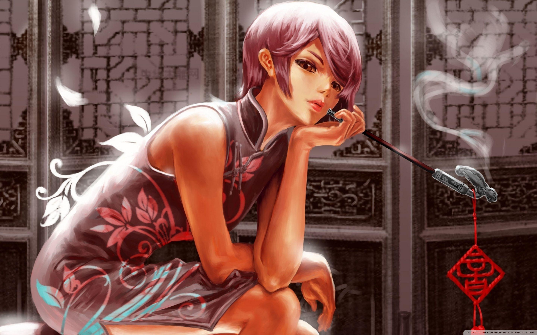 Anime Girl Smoking Wallpapers Top Free Anime Girl Smoking Backgrounds Wallpaperaccess
