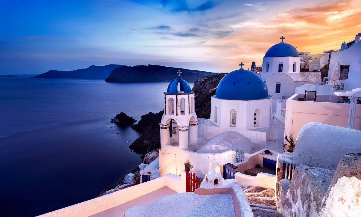 Santorini Greece Wallpapers Top Free Santorini Greece Backgrounds Wallpaperaccess