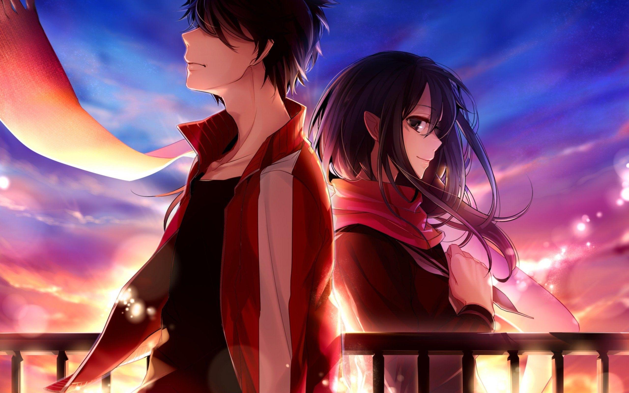Hình nền Anime Boy And Girl dễ thương 2560x1600