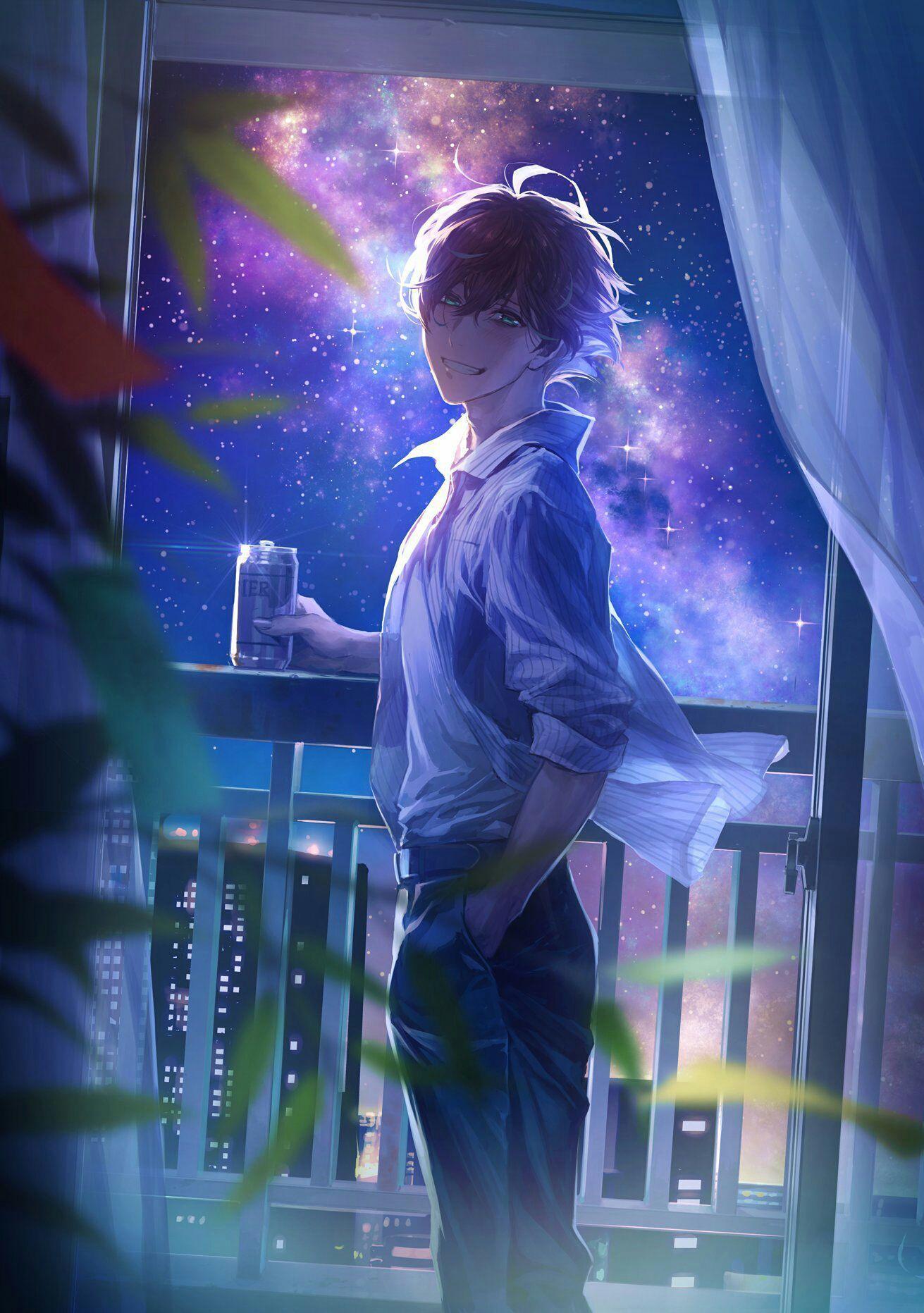 Câu chuyện về Rapper 1311x1863 [ONGOING].  Anime đẹp trai, Chàng trai vẽ anime, Chàng trai trong anime dễ thương