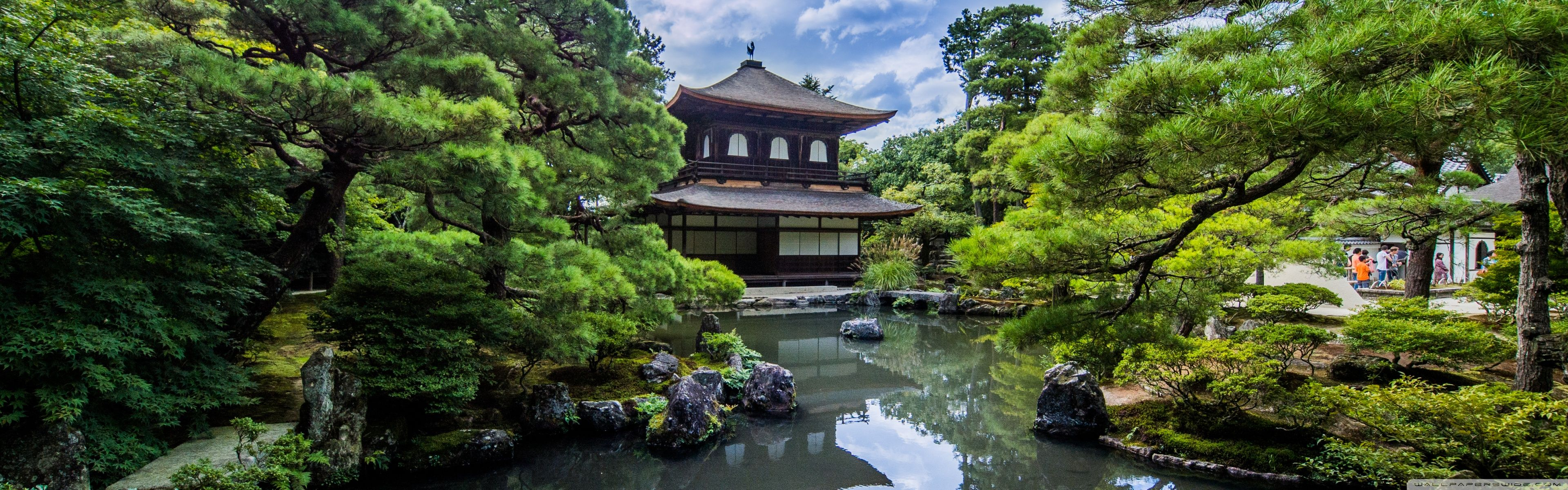 Japanese Garden Wallpapers: Japanese Dual Screen Wallpapers