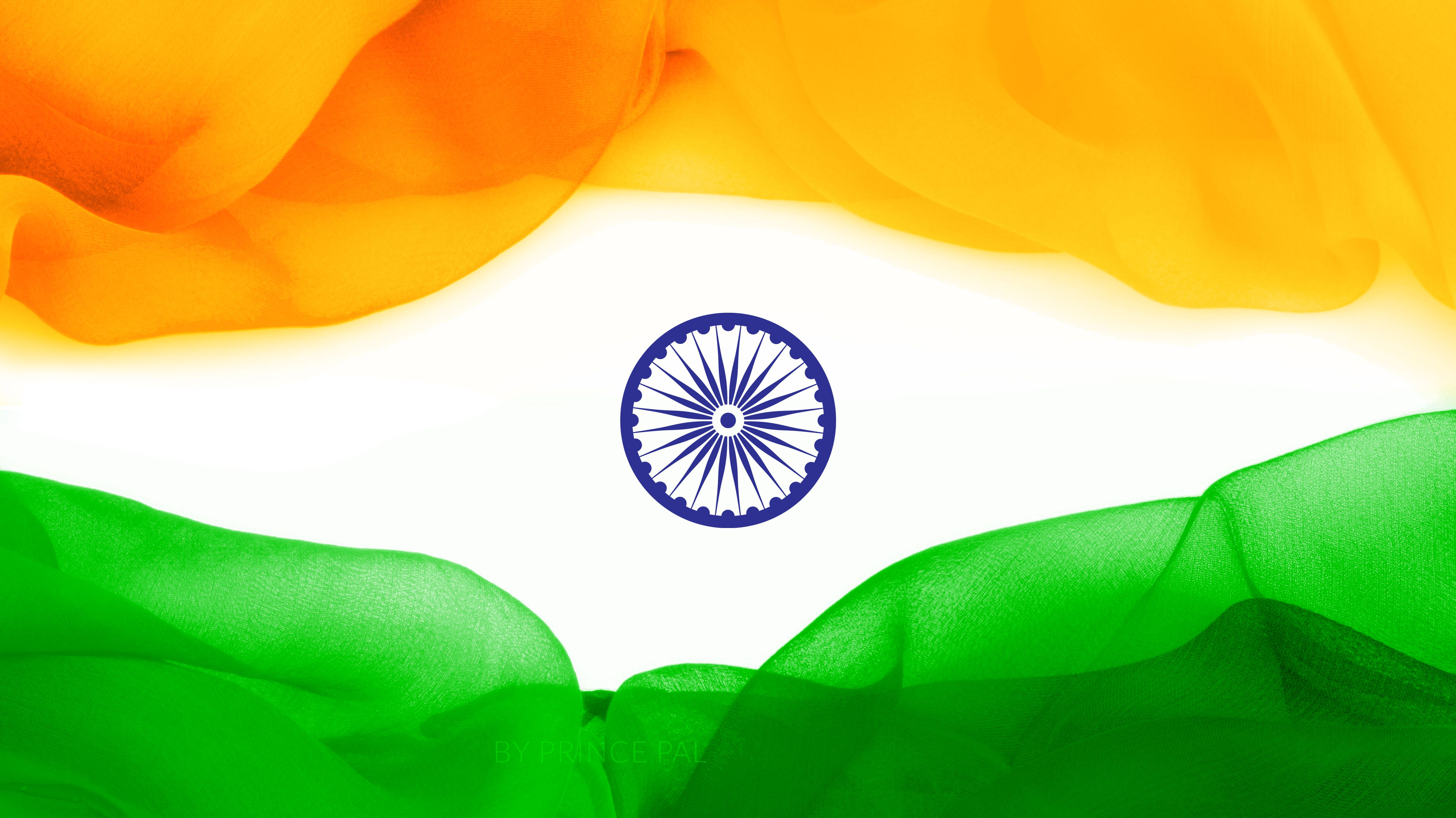 5120x2880 Hình nền Cờ của Ấn Độ, Ba màu, độ phân giải cao, 4K, 5K, Thế giới