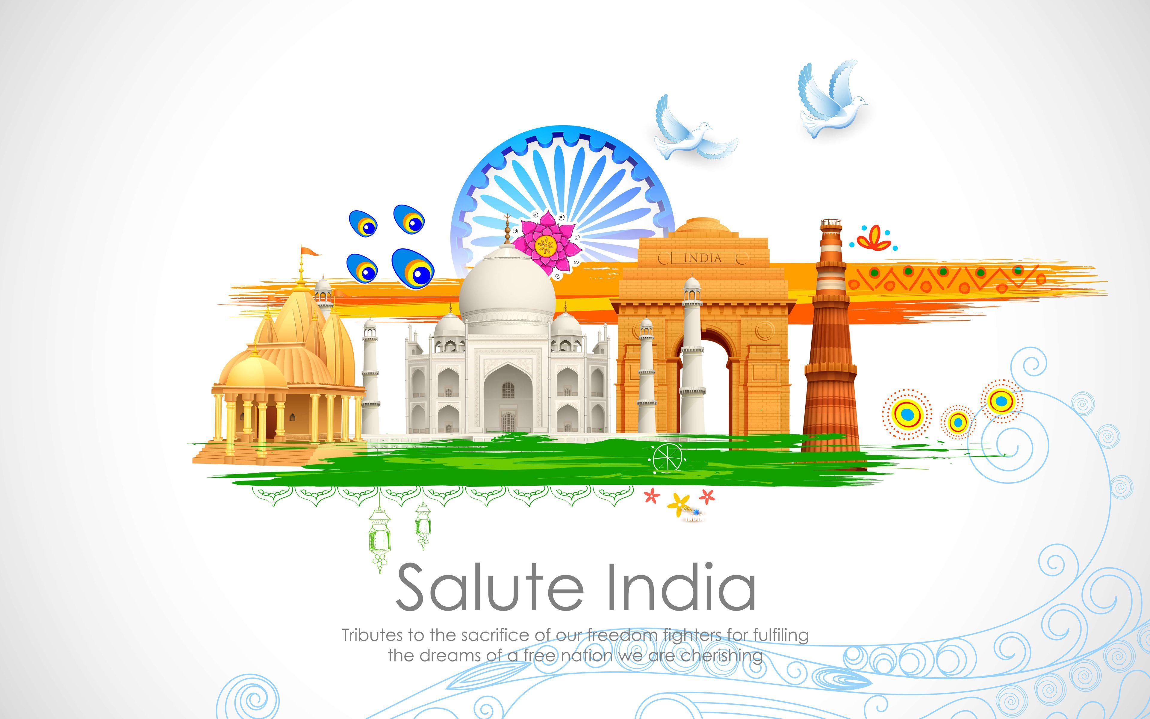 Hình nền 3840x2400 Salute India 4K 8K
