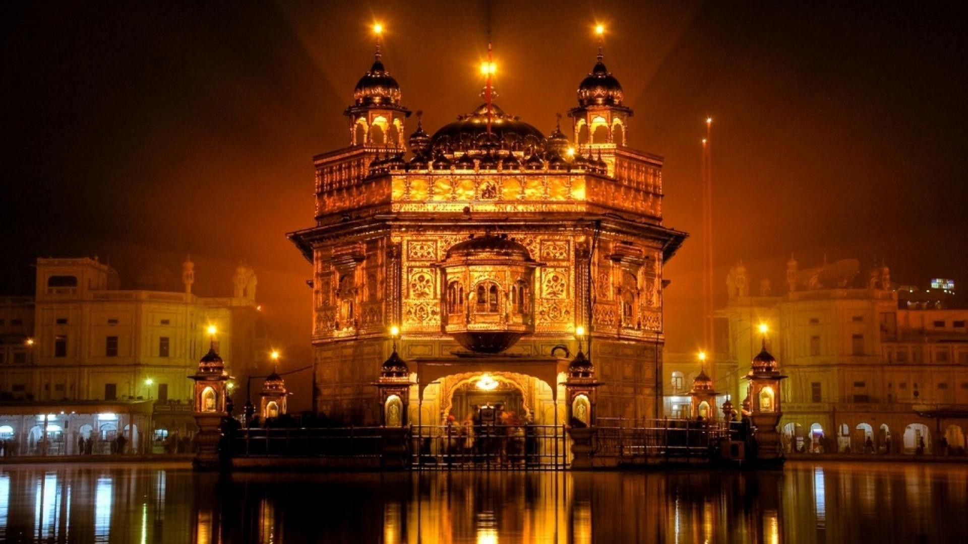 1920x1080 Ngôi đền vàng vào ban đêm trong hình nền amritsar india
